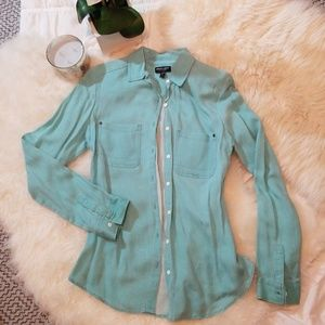 Tops - Turquoise Button Down Shirt